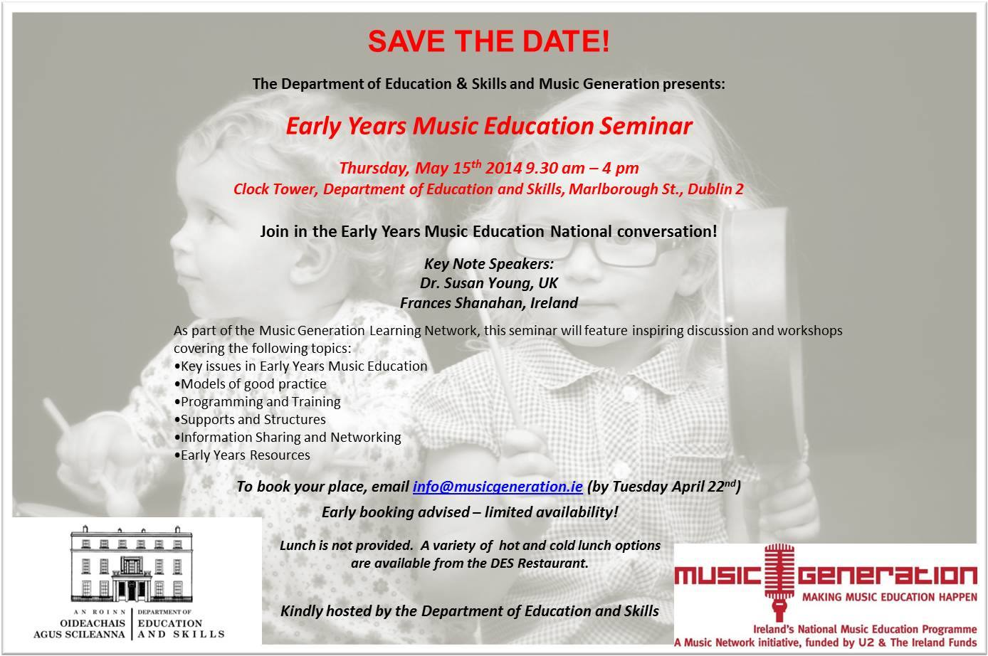 Music Generation Music for Early Years Seminar Poster