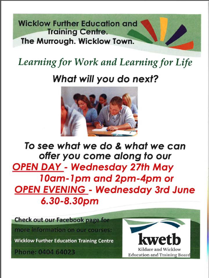 Murrough Open Evening